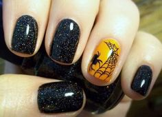 Take your Halloween nail look to a whole other level with a web design - so subtle yet so chic!