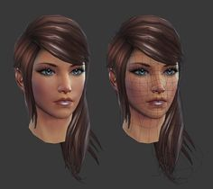 Rift: Eth Female Head by HazardousArts on deviantART