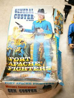 MARX, JOHNNY WEST TOY ACTION FIGURE, CUSTER with BOX
