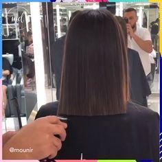 Hair Transformation Videos Long To Short ; Hair Transformation hair transformation videos long to sh Ombre Pastel Hair, Bob Pastel, Balayage Brunette, Hair Color Balayage, Hair Highlights, Blonde Brunette, Simply Hairstyles, Selena Gomez Short Hair, Rebonded Hair