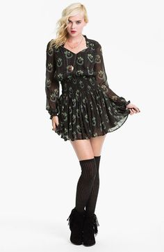Free People 'Wildflower' Print Gauze Dress available at #Nordstrom