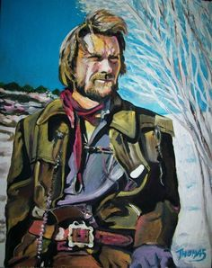 The Outlaw Josey Wales In acrylic by TOM(Clint Eastwood )
