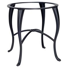 woodard empire round counter height dining table with umbrella hole patio dining tables at hayneedle - Cb2 Element Couchtisch