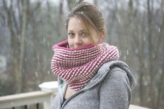 knitted snood & pattern
