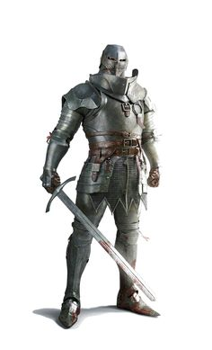 Human Male Fighter Knight in Full Plate - Pathfinder PFRPG DND D&D d20 fantasy