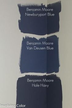 Benjamin Moore navy paint color ideas by Shopway2much