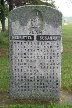 Interesting puzzling tomb stone... Scrabble , til death do us part