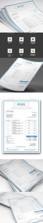 Service Invoice Template US Letter - service invoice