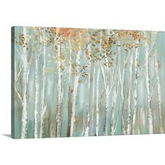 """GreatBigCanvas 36 in. x 24 in. """"""""Enchanted Forest"""""""" by Allison Pearce Canvas Wall Art, Multi-Color Abstract Canvas, Abstract Print, Canvas Artwork, Canvas Art Prints, Painting Prints, Canvas Wall Art, Art Paintings, Forest Painting, Types Of Art"""