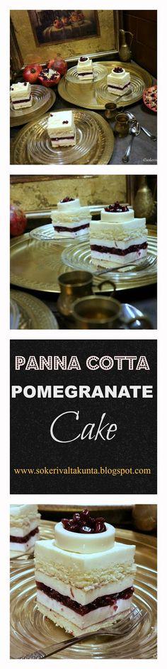 Panna Cotta granaattiomenaleivos