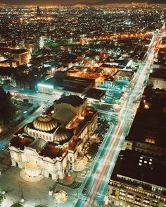 Mexico City. This is the Palacio de Bellas Artes (the Palace of Fine Arts). I saw the Ballet Folklorico de Mexico there.