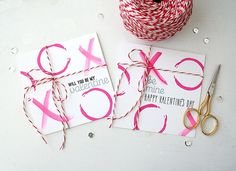 XO Valentine's Day Cards by Danielle Flanders for Papertrey Ink (December 2014)