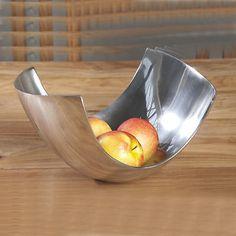 Designer aluminum tray, fruit tray, Dekoschale Abstract approximately 24 cm