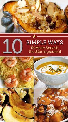 10 Simple Ways to Make Squash the Star Ingredient | thegoodstuff