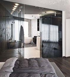 own your morning // bathroom // bedroom // interior // home decor // city loft // urban life // city living // city suite // morning // urban men // man cave //