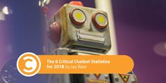 The 6 Critical Chatbot Statistics for 2018  ||  Chatbots are all the rage. Here are the key 2018 statistics you need to know as you consider adopting chatbots for your business. Jay Baer analyzes research from Drift, Salesforce, and myclever. http://www.convinceandconvert.com/digital-marketing/6-critical-chatbot-statistics-for-2018/?utm_campaign=crowdfire&utm_content=crowdfire&utm_medium=social&utm_source=pinterest