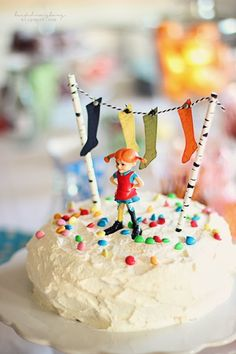 Pippi Longstocking, A Little Party, Birthday Candles, Tart, Deserts, Birthday Parties, Baking, Breakfast, Instagram Posts