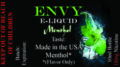 Envy Premium E liquid Collection Menthol Sale! $4.95