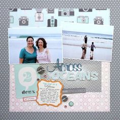#papercraft #scrapbook #layout from October Afternoon