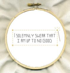 Harry Potter Cross Stitch! Would love to turn the into a tattoo