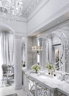 19 elegant bright bathrooms – the marble house - Marble Dream Bathrooms, Beautiful Bathrooms, Bright Bathrooms, Luxury Bathrooms, Elegant Home Decor, Elegant Homes, Decoration Gris, Marble House, Bathroom Interior Design
