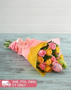 Buy Joyful Easter Bouquet Online - NetFlorist Online Florist, Easter Flowers, Mind Blown, Joyful, Bouquet, Gifts, Stuff To Buy, Presents, Bouquet Of Flowers