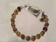 NWT-Alex-And-Ani-Assorted-Vintage-Bead-Bracelet-Silver-Bangle-Amber
