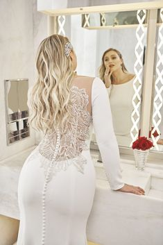 Plus size wedding gowns with sleeves — Uptown Bride size wedding dresses full figured Plus Size Wedding Gowns, Wedding Gowns With Sleeves, Long Sleeve Wedding, Dream Wedding Dresses, Bridal Dresses, Bridesmaid Dresses, Full Figure Wedding Dress, Size 12 Wedding Dress, Wedding Lace