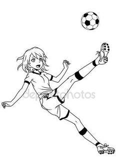 Pobieraj - Piłka nożna Piłka nożna dziewczyna kopie piłkę — Obraz stockowy #95860904