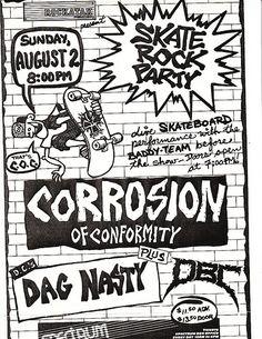 COC, Dag Nasty punk hardcore flyer