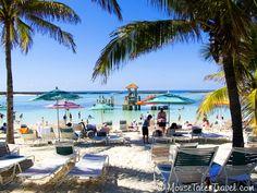 Family beach at Disney's private island, Castaway Cay