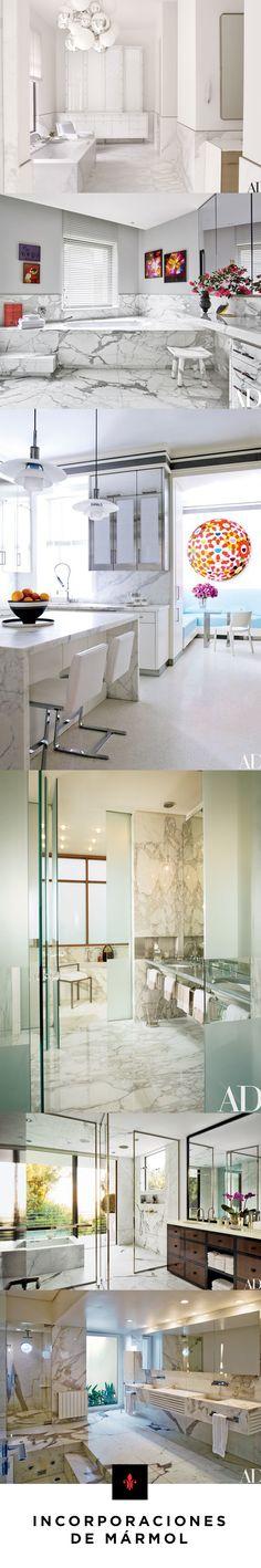 Mármol, el clásico para todo espacio.  Marmol  Marble   Diseño de interiores   Interior Design