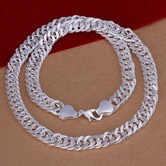 925 Silver jewelry Necklace,fashion high quality Male 10M all side Necklace 20 inch N039