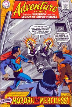 """mikestand:  """" Part one of my favorite silver-age Legion of Super-Heroes story.  Adventure Comics # 369, June, 1968 """"  Luornu gets the shaft again, as she's not invited to the cover shoot."""