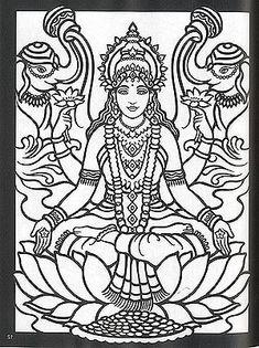Lalita | Hindu Gods Coloring Book | Pinterest | Goddesses, Paintings ...