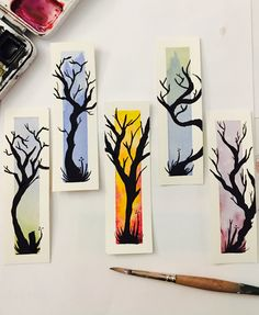 I've been painting for years but I have got to say, these little trees seem to give me more joy to paint than anything else right now. - Imgur