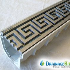 5 MEArin 100 Driveway Drainage Kit w/Cast Iron Grates Greek Key Driveway Drain, Drainage Grates, Driveway Lighting, Trench Drain, Balcony Railing Design, Drainage Solutions, Floor Drains, Grill Design, Pontoon Boat