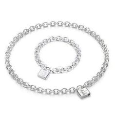 Tiffany Outlet 1837 Lock Silver Set