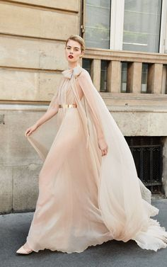 80461a0973a The  DreamyNovak in motion - this is a stunning soft nude chiffon gown from  the
