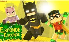 Minecraft: LEGO BATMAN! (Esconde-Esconde) Minecraft, Lego Batman, Nintendo 64, Craft Gifts, Family Guy, Quilts, Games, Logos, Crafts