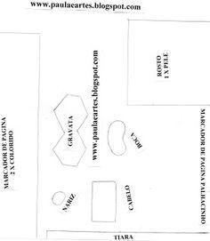 ARTE COM QUIANE - Paps,Moldes,E.V.A,Feltro,Costuras,Fofuchas 3D: Marcador de livro com tema palhacinho_Molde