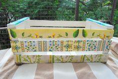Cajones de verdura reciclados, $80 en http://ofeliafeliz.com.ar