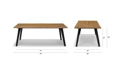 Lisse Teak Dining Table for 6 - Dining Tables - Article   Modern, Mid-Century and Scandinavian Furniture