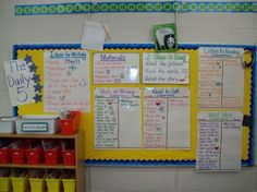 Daily 5 Anchor Chart Board