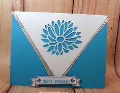 Stampin' Up!  Birthday card made with Stylish Stems  stamp set and designed by Demo Pamela Sadler. See more cards at stampinkrose.com #stampinkpinkrose #etsycardstrulyheart