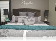 turquoise and silver bedroom simple ideas - Google Search