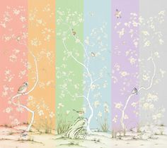 Lavena mural color availability. #mural #interiordesign #wallpaper