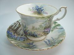 Royal Albert Tea Cup and Saucer Country scenes by BeadsbyVince