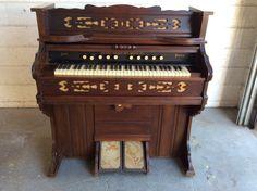 """Penn'a organ. 44"""" length. 23"""" deep. 45.5"""" height"""