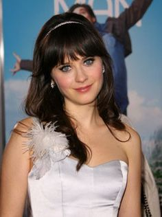 I love love LOVE Zooey Deschanels hairstyles too. I dont know how I would do with the bangs always on my face though.